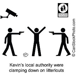 Litterlout - Kevin soon regretted dropping his litter ...