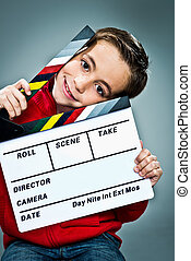 Little Actor with a Slate in His Head