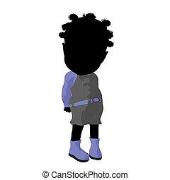 Little African American Go Go Dancer Girl Illustration -...