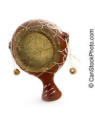 little african drum on white background
