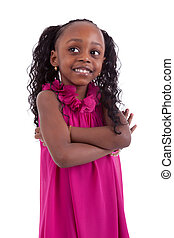 Little african girl with folded arms