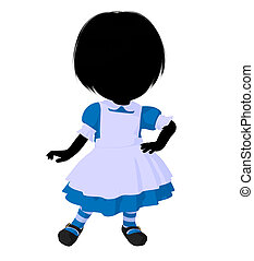 Little Alice In Wonderland Silhouette