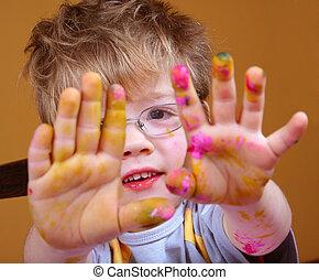 Little artist hand
