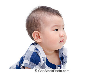 child over white background