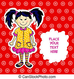 Little asian girl card