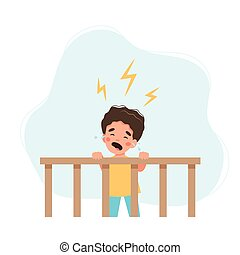 Little baby crying. Children sleeping problems concept.