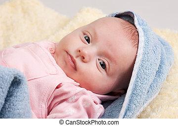 Little Baby Girl Looking
