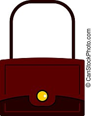 Little bag icon isolated