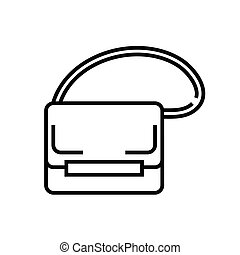 Little bag line icon, concept sign, outline vector illustration, linear symbol.