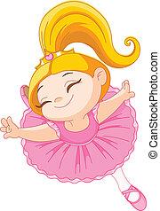 Little  ballerina - Happy little ballerina in ballet jump