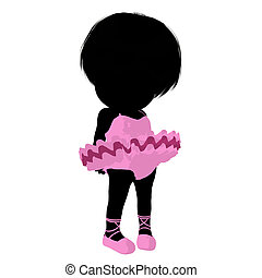 Little Ballerina Girl Illustration