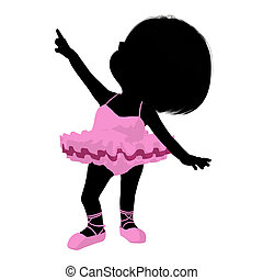 Little Ballerina Girl Illustration Silhouette