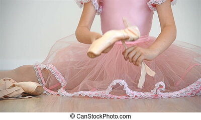 Ballerina Girl  In Pink Tutu