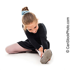 little ballerina stretching