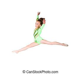 Little ballet dancer jump
