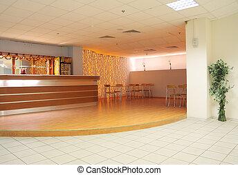 Little bar in office centre - Little empty bar interior in...
