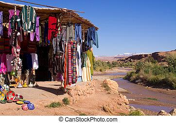 Little bazaar in Morocco