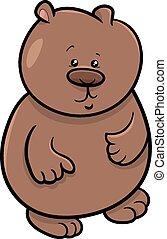 little bear cartoon illustration