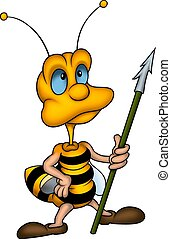 Wasp with spear - Little Bee 11 - High detailed and coloured...