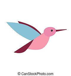 little bird flat illustration