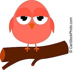 Little bird, illustration, vector on white background.
