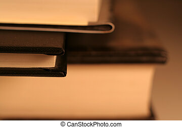 Little Black Book - A side view of a little black book in...