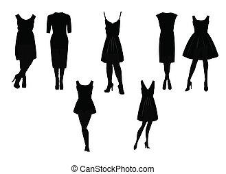 little black dress in silhouette set