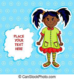 Little black girl card