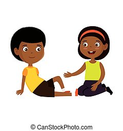 little black kids couple characters