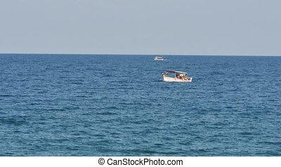 little boat in sea 4k
