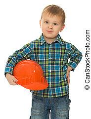 Little boy a helmet