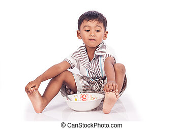 Little boy anorexia