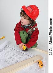 little boy architect