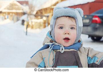 Little boy at winter