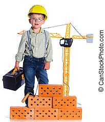 Little boy builder