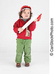 Little boy decorator