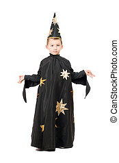 Little boy dressed as astrologer