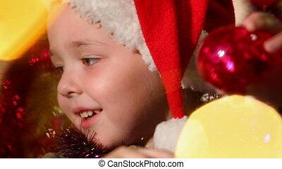 little boy dressed as Santa Claus 1