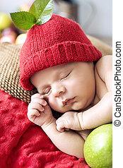 Little boy during a short nap
