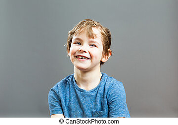 Little Boy Expressions - Happy Smile