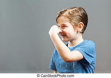 Little Boy Expressions - Somethig Stinks
