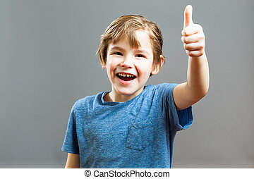 Little Boy Expressions - Thumbs Up