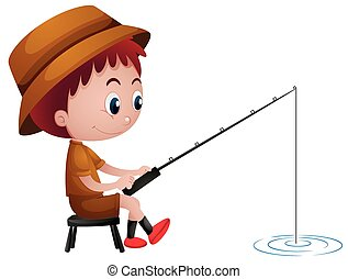 little boy fishing illustrations and clip art 421 little boy rh canstockphoto com