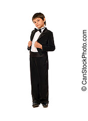 Little boy in a tuxedo