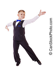Little boy in dance costume