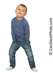 Little boy in jeans