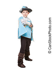 Little boy in musketeer suit