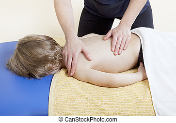 little boy in physiotherapy