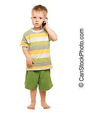 Little boy in shorts