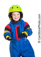 Little boy in sports overalls